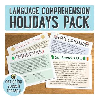 Holidays Through the Year Language Pack
