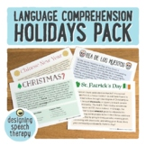 Holidays Language Pack for Speech Therapy