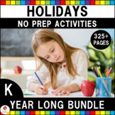 Holidays Math and Literacy Activities Bundle (Kindergarten)