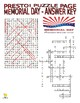 Holidays : Memorial Day Puzzle Page (Wordsearch and Criss-Cross)