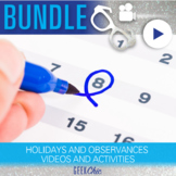 Holidays and Observances Video & Activities BUNDLE!