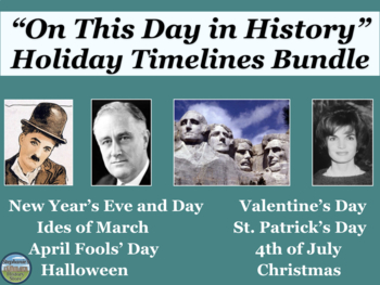 Holidays On this Day in History Timeline Bundle
