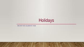 Holidays PPT