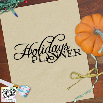 Holidays Planner Kit