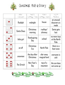 Holidays Roll-A-Story
