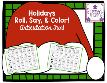 Holidays Roll Say and Color Articulation