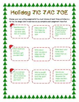 Holidays Say TicTacToe