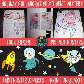Christmas Holiday Activity Science Collaborative Posters 4 20x24 Posters