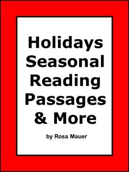 Holidays Seasonal Reading Passages