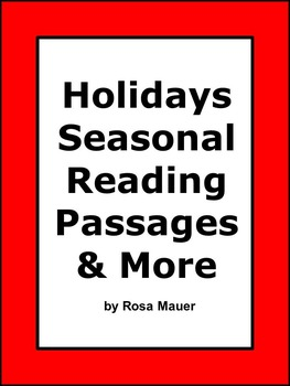 Holidays Seasonal Reading Passages