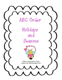 ABC Order Holidays and Seasons Cut and Paste