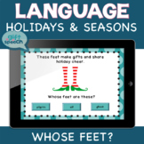 Who Wh ?'s Whose Feet Inferencing Speech Therapy and Vocabulary Activity