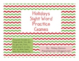 Holidays Sight Word Games Pack (Set #3)