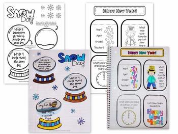 January {Winter} - Holidays  Interactive Notebook {Upper Grades 3-5}
