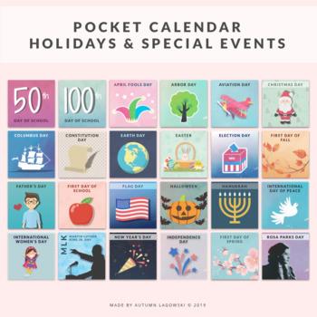 Holidays & Special Events Pocket Calendar Set