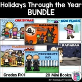 Holidays Through The Year Mini Book Bundle: 21 Mini Books