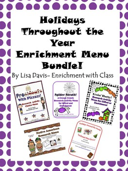 Holiday Enrichment Menu Bundle!