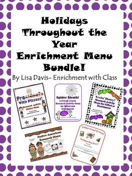 Holiday Enrichment Menu Bundle!