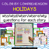 Holidays Throughout the Year Bundle - Color by Comprehension Stories & Questions