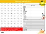 Holidays Wordsearch Sheet Starter Activity Keywords Travel Tourism