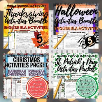 "Holiday Activities BUNDLE! ""Time-Savers"" for Christmas, Halloween + many more!"