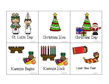 Holidays and Basic Calendar Set