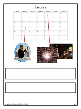 Holidays and Calendar Interactive Book