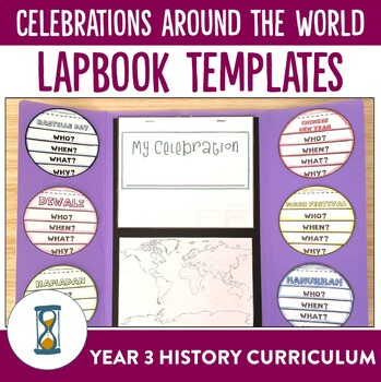 Holidays and Celebrations Around the World Lapbook Activities