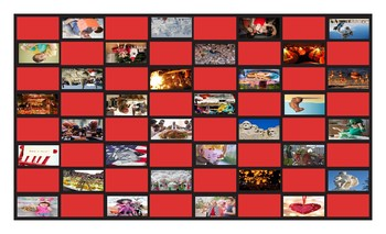 Holidays and Festivals Around the World Legal Size Photo Checkerboard Game