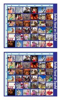 Holidays and Festivals Around the World Spanish Legal Size Photo Battleship Game