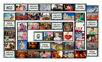 Holidays and Festivals Around the World Spanish Legal Size Photo Board Game