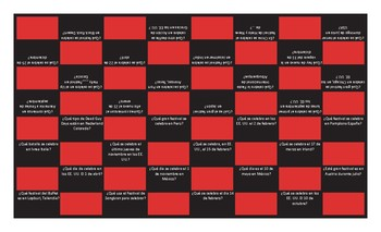 Holidays and Festivals Spanish Checker Board Game