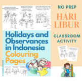 Holidays and Observances in Indonesia Colouring Pages (Hari Libur)