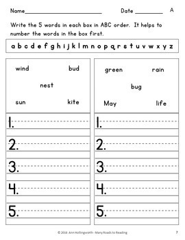 Holidays and Seasons Alphabetical Order BUNDLE:Grades 1-2