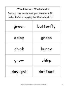 Holidays and Seasons Alphabetical Order BUNDLE:Grades 1-2