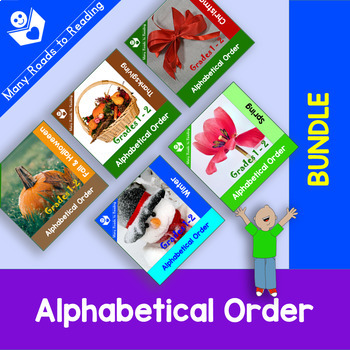Holidays and Seasons Alphabetical Order GROWING BUNDLE: Gr