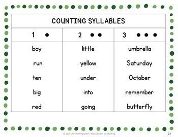 Holidays and Seasons Syllable Count BUNDLE: Grades 1-2