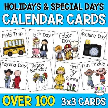 Holidays & Special Days Calendar Cards- Melonheadz Style