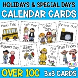 #teachergram Holiday Calendar Cards with Special Days and Events