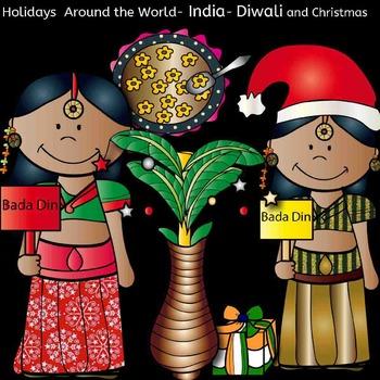 Holidays around the world: India. Diwali and Christmas-48 items!