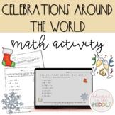 Holidays around the world math activity and google slides: