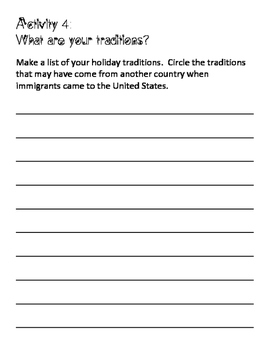 Holidays from Around the World in the US Readers Theatre Activity Pack