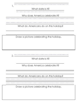Holidays in America Mini-book