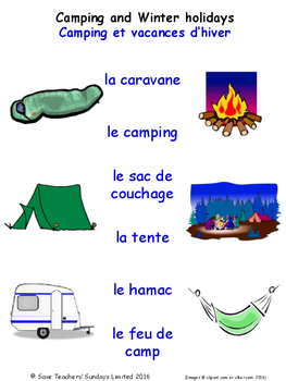 Holidays in French Matching Activities