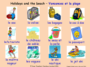 Holidays in French Posters / Slides