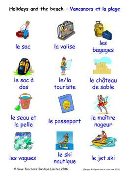 Holidays in French Word searches / Wordsearches