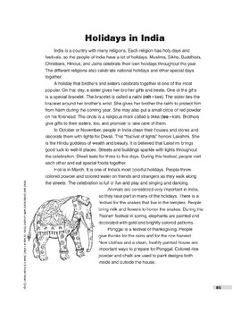 Holidays in India (Lexile 770)