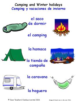 Holidays in Spanish Matching Activities