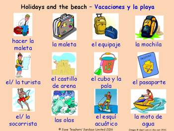 Holidays in Spanish Posters / Slides