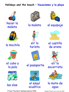 Holidays in Spanish Word searches / Wordsearches
